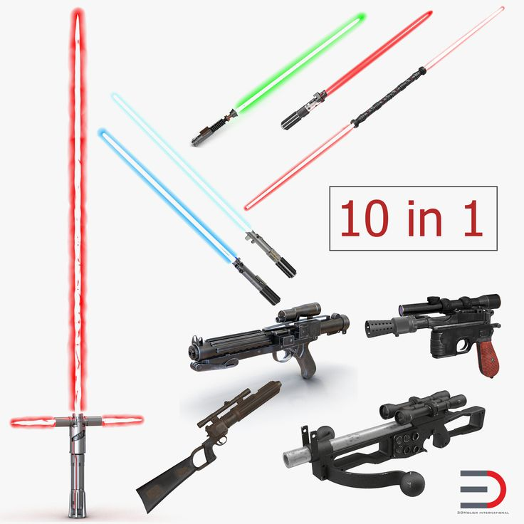 3D Star Wars Weapons Collection