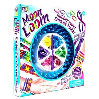 Creative Kids Crafts Moon Loom Rubber Band Bracelet Maker