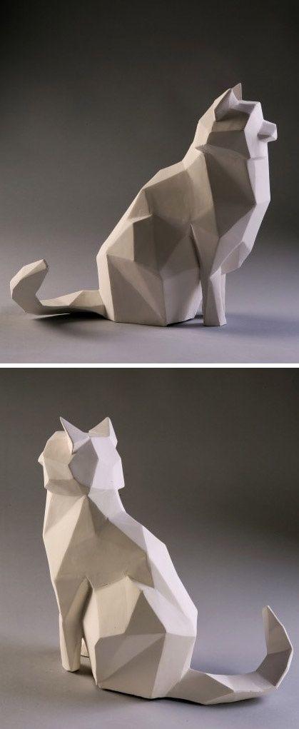 concrete cat scarecrow :Sadeh I.D