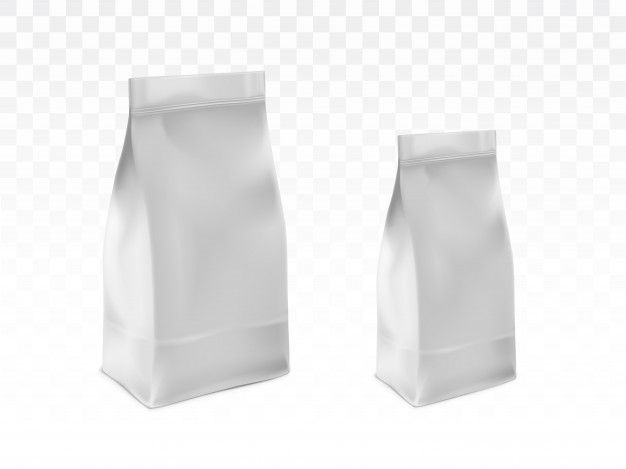 Download Download Blank White Sealed Plastic Bags Realistic Vector For Free Packaging Template Design Packaging Template Plastic Bag