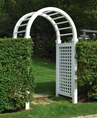 Spindle Top Arbor | Cellular PVC Arbor by Walpole Woodworkers