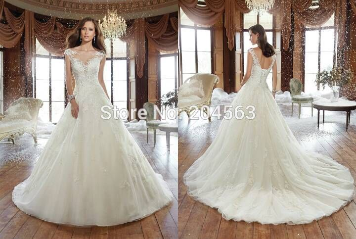 Free Shipping A Line Wedding Dress 2016 Bride Dress custom size&color