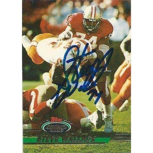 1993, Steve Wallace, San Francisco 49ers, Signed, Autographed, Topps Stadium Club Football Card, Card # 477, a COA Will Be Included