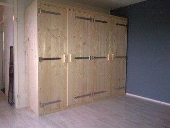 Steigerhout kasten kledingkast closet drawer