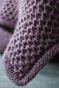 Padrões De Tricô Fácil Cobertor De Bebê