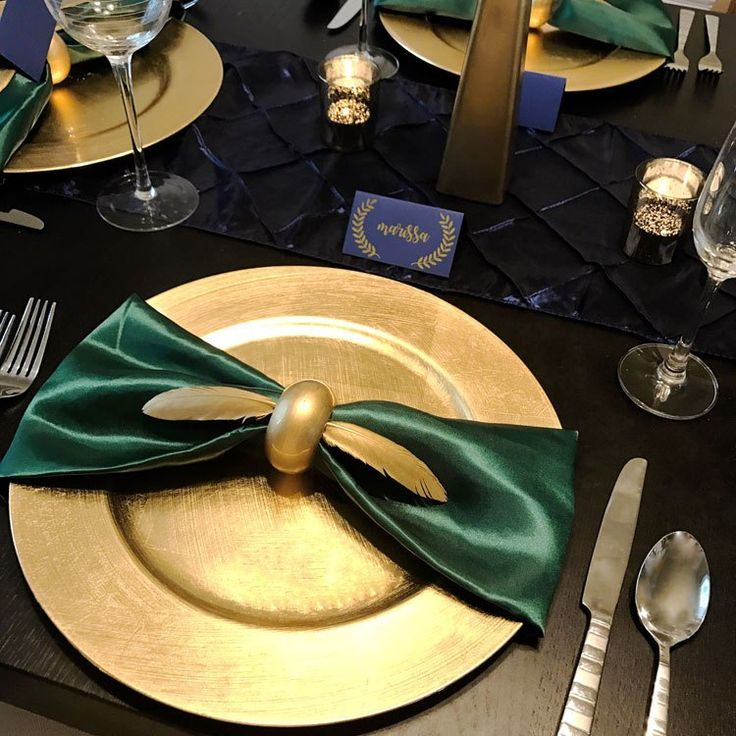 Harry potter inspired feather golden snitch napkin rings