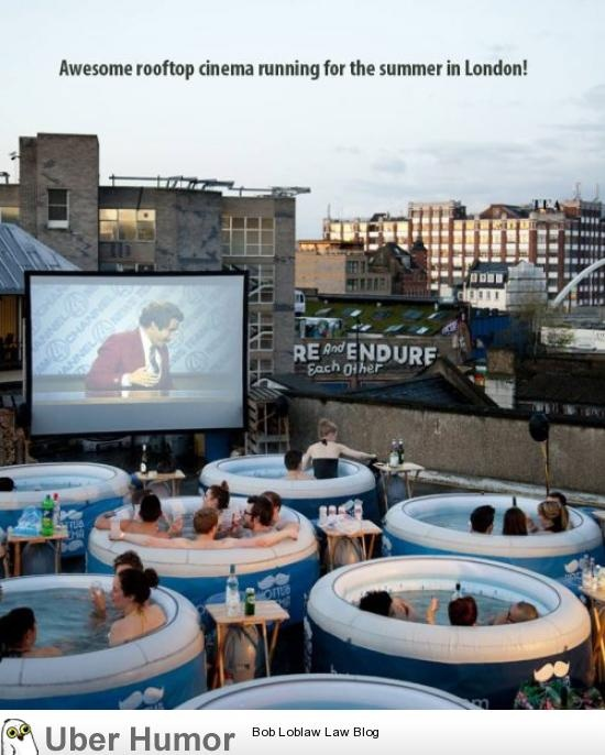 Most awesome rooftop cinema ever!