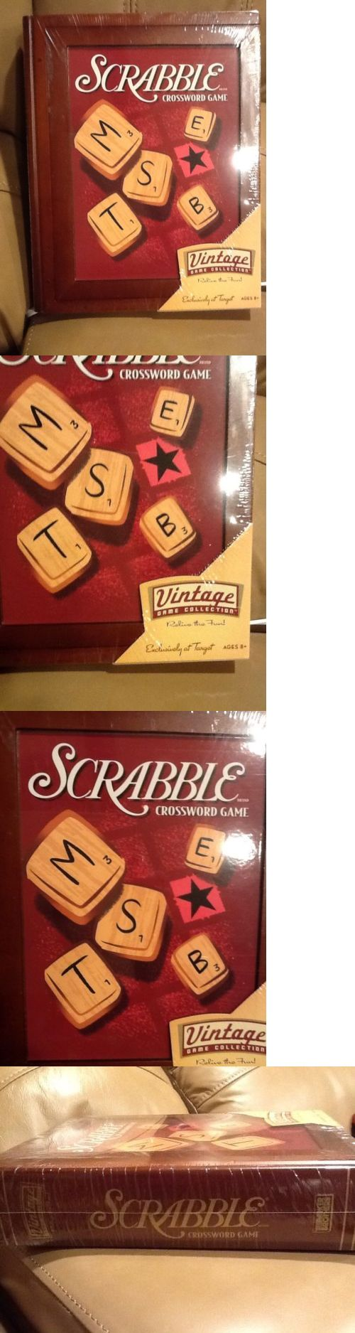 Vintage manufacture 19100 scrabble crossword game vintage game collection new and sealed parker brothers