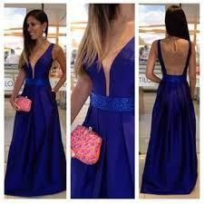 vestido azul rey largo - Buscar con Google