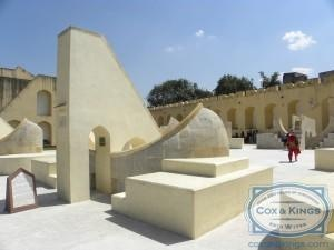 """We then visited Jantar Mantar—an architectural marvel of astronomical instruments, built by Maharaja Jai Singh II between 1727 and 1734.  The World Heritage List describes it as """"an expression of the astronomical skills and cosmological concepts of the court of a scholarly prince at the end of the Mughal period"""". #CoxandKings"""