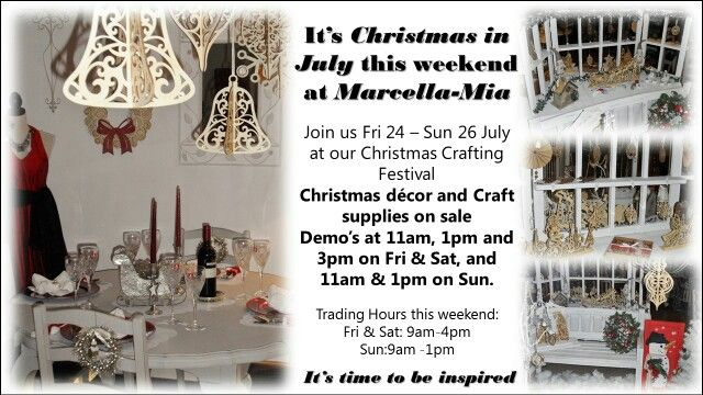 Christmas in July .... A Christmas Crafting Festival