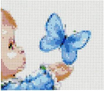 girl & blue butterfly - 3