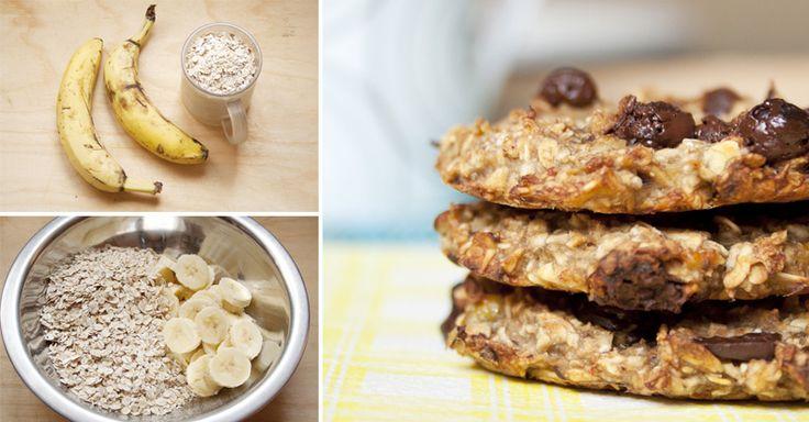 Galletas de avena y banano