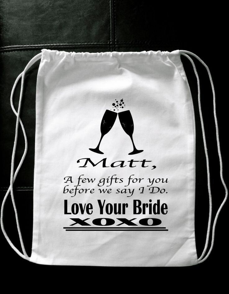 Personalized GROOM GIFT BAG A few gifts for you before we say I Do novelty wedding married groom to be husband to be by GlitterGirlsShopLLC on Etsy https://www.etsy.com/listing/253925726/personalized-groom-gift-bag-a-few-gifts