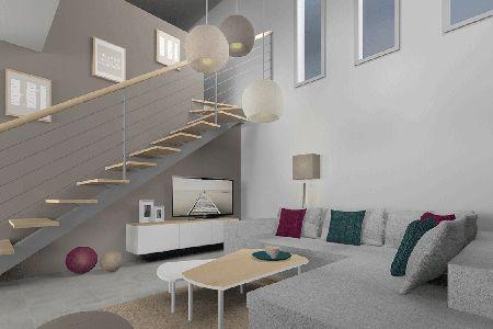 salon / chic / scandinave / canapé / Bo concept / meuble tv Ikéa custom / graphisle des cadre Tiphaine Thomas / +architecte +interieur +decorateur +Tiphaine +Thomas +Skéa +Lyon / http://www.skea.fr/realisations/