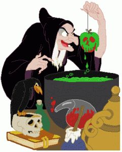 Una de las tantas imágenes de la bruja. Ésta, de Blancanieves