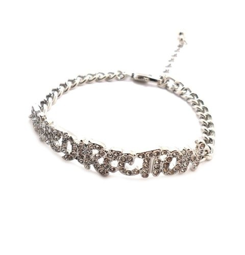 http://cheune.com/store Rhinestone One Direction Infinity Directioner Bracelet w/ 4mm Link Chain XB286R