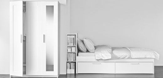 IKEA Kleiderschränke wie z. B. BRIMNES Kleiderschrank 3-türig, weiß