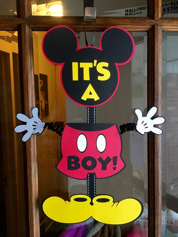 Minnie & Mickey Gender Reveal Baby Shower Mickey Banner Minnie