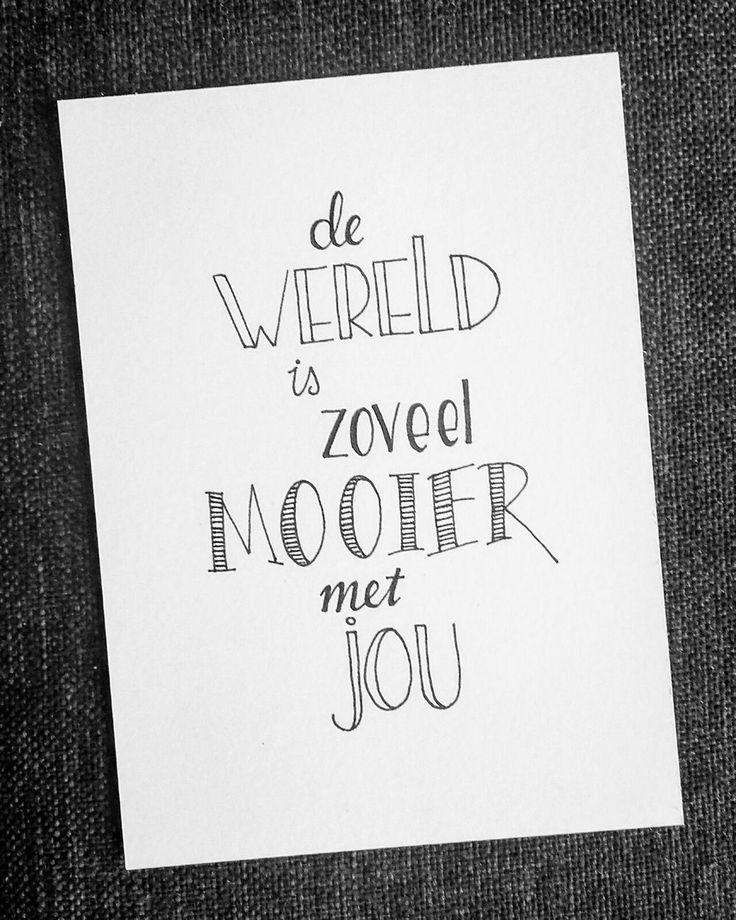 De wereld is zoveel mooier met jou!