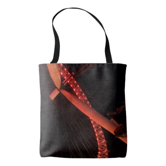 #zazzle #girl  #woman #gift  #giftidea  #Tote #Bag #London #Eye #Night