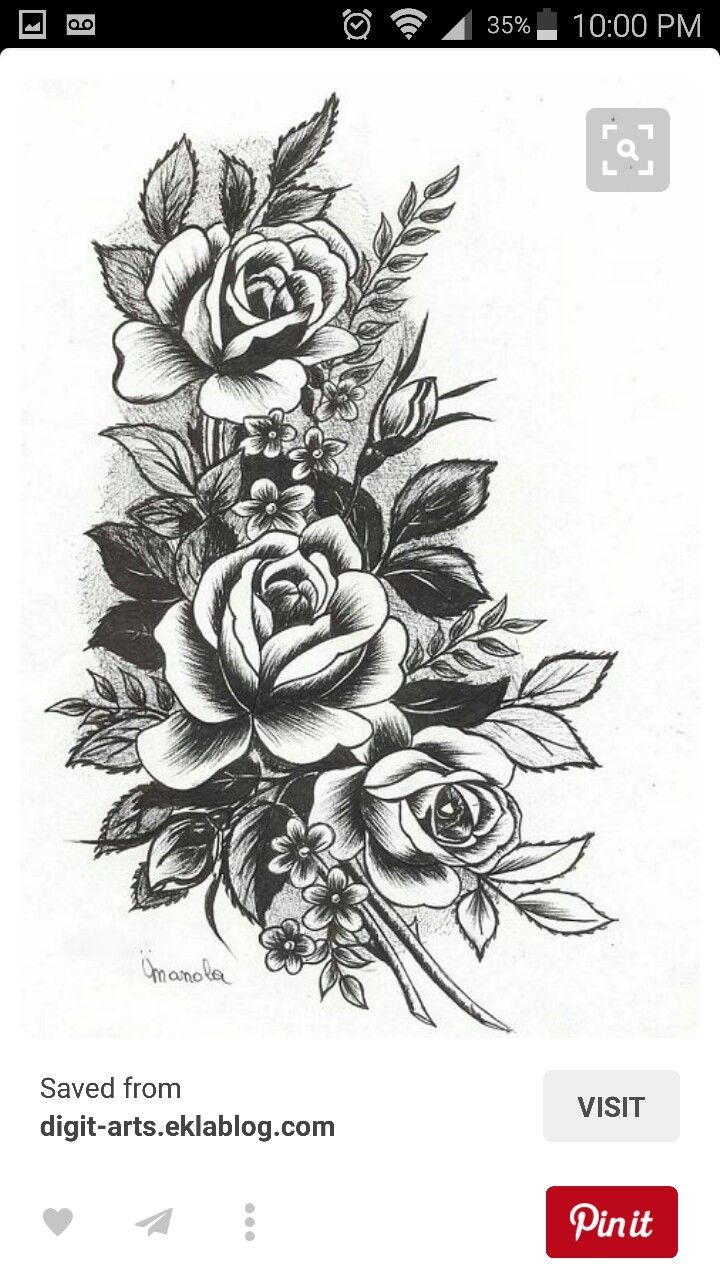 The type of roses I like for my in memory tattoo tbh ,but I'm still not 100% sure what I want if I just want roses as a symbol for my grandmother or a quote with her birthday and stuff or the rose with that or what