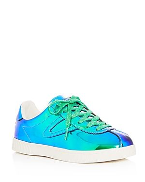 TRETORN WOMEN'S CAMDEN IRIDESCENT LACE UP SNEAKERS. #tretorn #shoes #