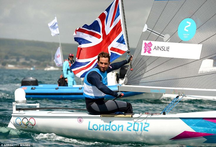 Ruling the waves: Ben Ainslie took gold for Team GB on Sunday as the remarkable run of success continued