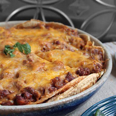 Chorizo Enchilada Pie - Easy enough for a weeknight, delicious enough for company!
