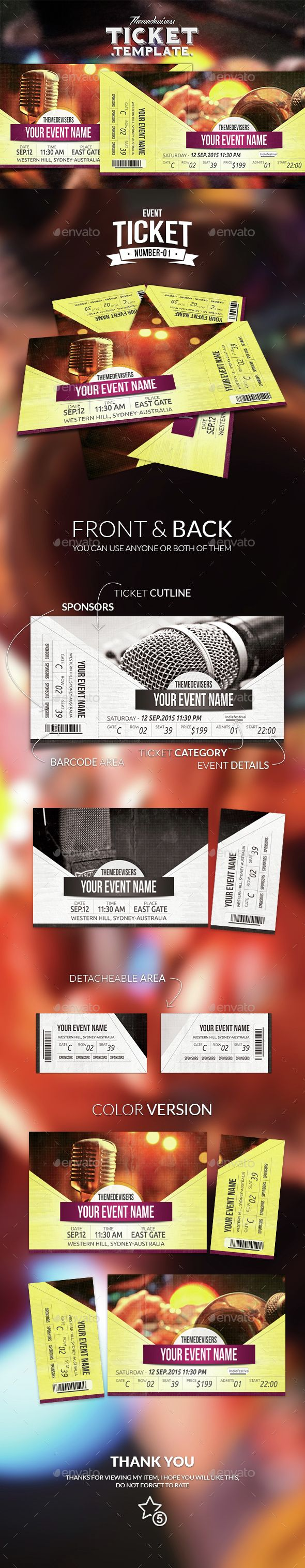 Exelent Event Ticket Ideas Ornament Administrative Officer Cover - Event ticket template photoshop