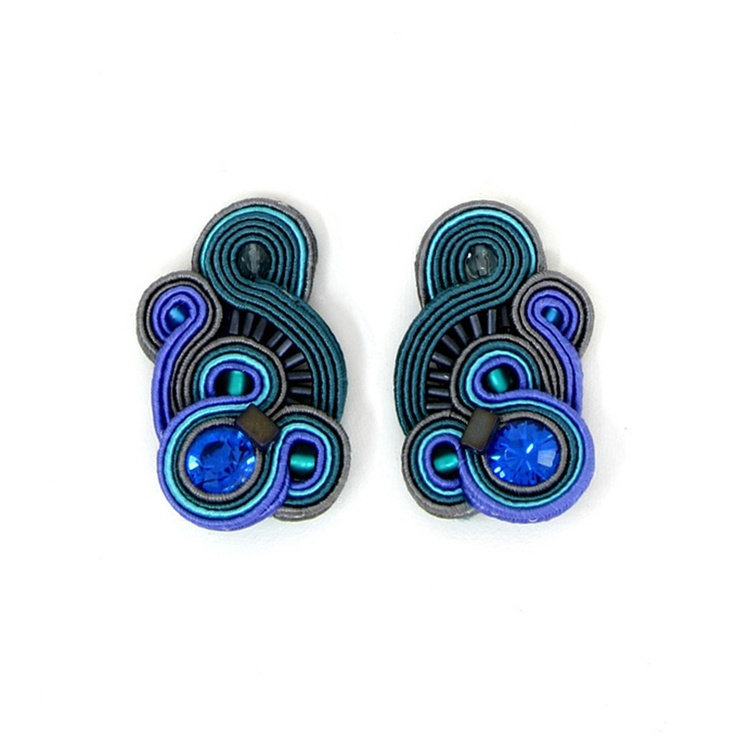 Accent Soutache Earrings  by Dori Csengeri