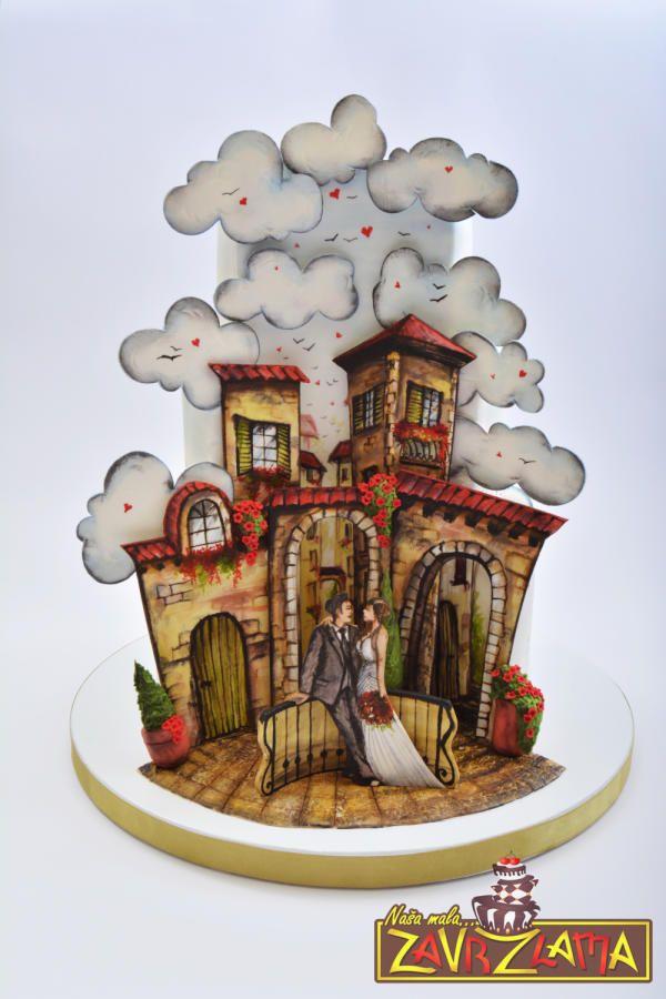 Tuscan Illusion Wedding Cake - Cake by Nasa Mala Zavrzlama