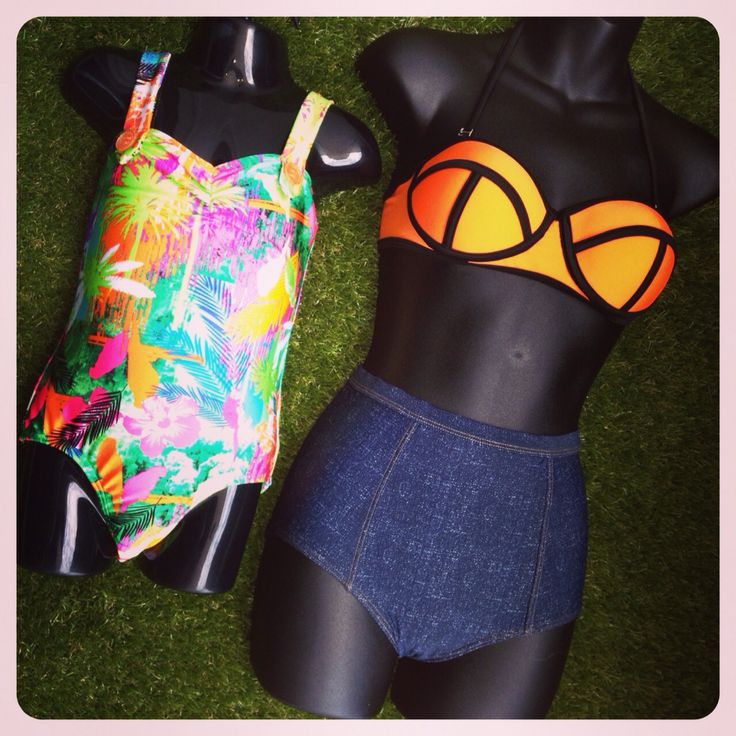 More ways with DENIM print Swimwear this Season! Bandeau Top $40, Denim print High-waist Brief $45 & KIDS Toucan print One Piece (sizes 3-7) $40 with FREE DELIVERY on Australian orders over $50! SHOP RETRO Swimwear Here: http://www.swimheaven.com.au/retro/orange-underwire-bandeau-top.html #swimheaven #swimwear #denim #denimprint #retro #retroswimwear #tropical #tropicalswimwear #toucan #kids #bikinis #kidsswimwear #mixandmatch #highwaist #fashionswimwear #ootd  #freedelivery #mannequin…