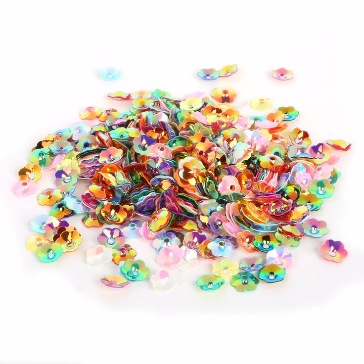 New Coming 600-3800pcs 4/6/8/10mm White and Mix Color 3D Sequin Flower For Clothing Accssory DIY Art Decoration Jewelry Making