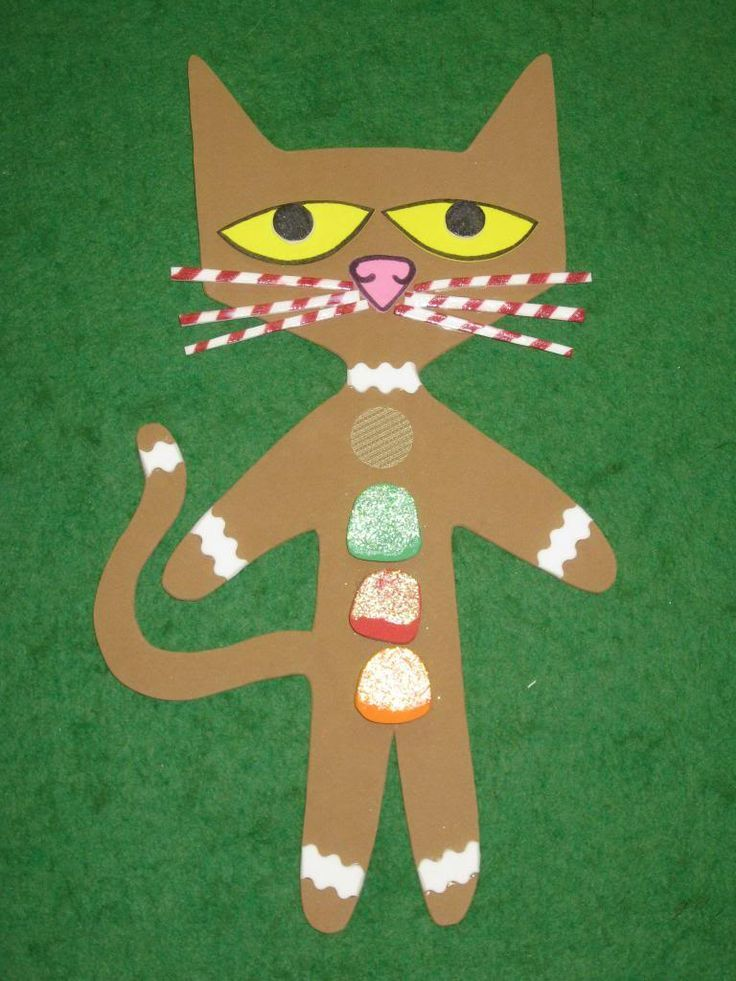 Oh so CUTE! Pete the Cat as the Gingerbread Man!