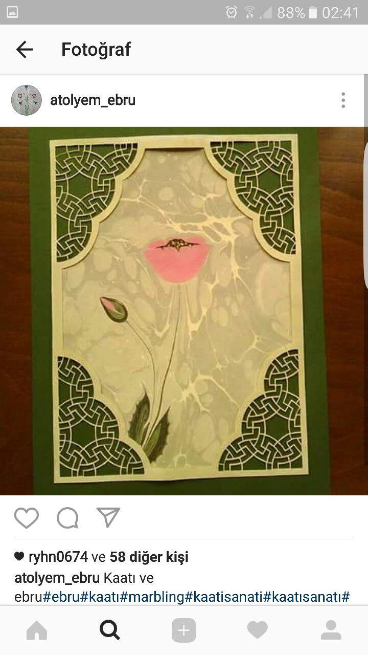 Ebru  ve Kaatı sanatı-Ayfer Aba