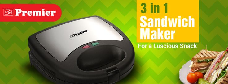 3 in 1 Sandwich Maker for a Luscious Snack