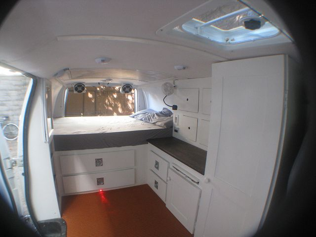 Cargo van remodel camping cargo trailers rvs vans pinterest beautiful raised beds and - Beautiful snooze bedroom suites packing comfort in style ...