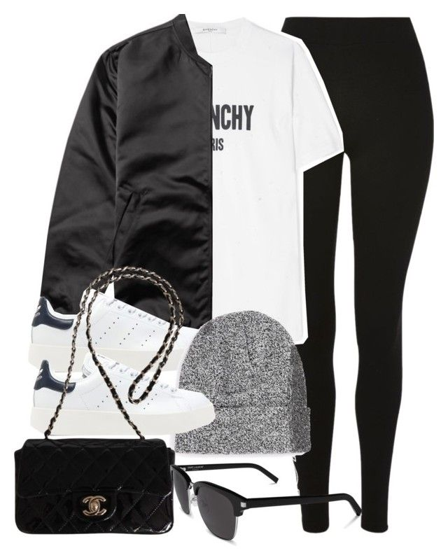 """Sin título #14334"" by vany-alvarado ❤ liked on Polyvore featuring Topshop, Givenchy, Acne Studios, adidas Originals, Topman, Chanel and Yves Saint Laurent"