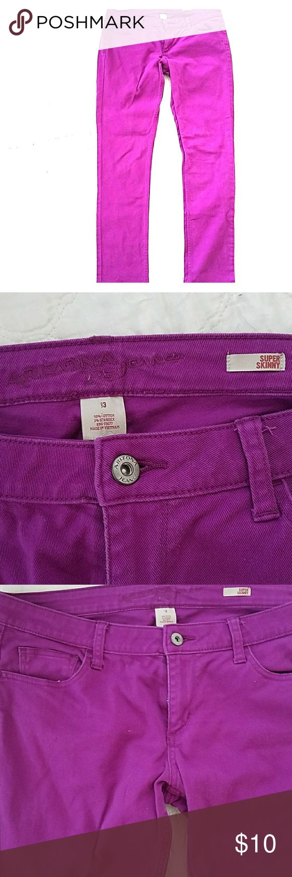 Purple skinny jeans These jeans are so cute and stand-out! Have fun! Perfect condition. Arizona Jean Company Jeans Skinny