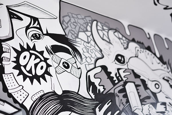 Tyber's mural in our office