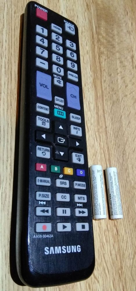 Samsung AA59-00463A LED TV Remote Control Battery Cover Included PN51D6900 #Samsung