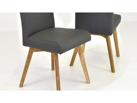 Jedálenská stolička TINA (pravá talianská koža sivá)