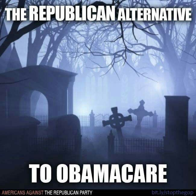 And the Republican's used to claim Obamacare had Death panel - Now you can't even afford Death!