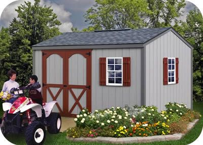 cypress 12x10 wood storage shed kit all precut sale 1