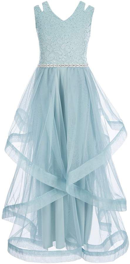 9de537a4e9e Xtraordinary Big Girls 7-16 Glitter-Lace Tulle Long Dress