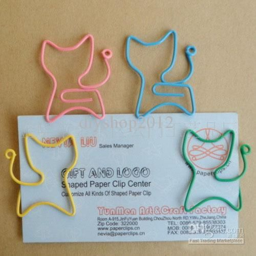 cat Shaped Paper Clips bookmark