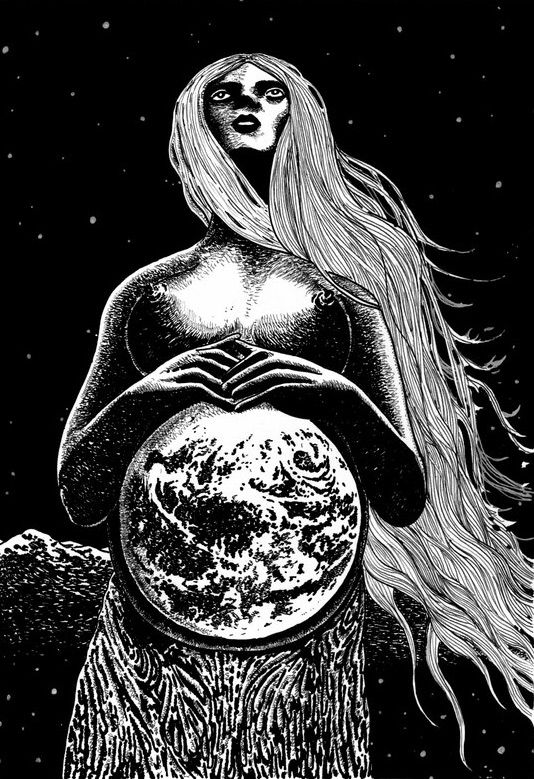 Mother Earth -  Her name explicitly describes her as forever fertile, life-giving and reproductive force , her identity later blended into that of Mokos. The cult of the mother goddess originates from the period of matriarchy, the system that, in some of its forms, lasted among the Slavs even until the 10th century.
