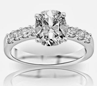 1.32 Carat GIA Certified Cushion Cut / Shape Classic Prong Set Round Diamond Engagement Ring ( G Color , VS1 Clarity ) | Diamond Engagement RingDiamond Engagement Ring