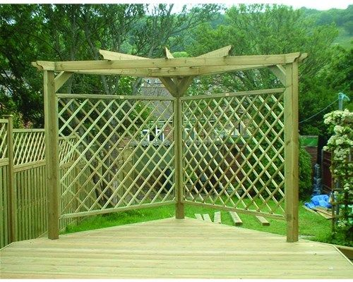Db Corner Pergolas Image 500 215 400 Deck Designs And
